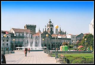 Plaza de la Republica: Braga, Portugal