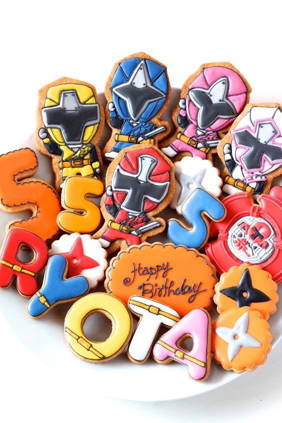 Shuriken Sentai Ninninger icing cookies by Y&Csweets