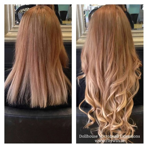 Balayage Effect With Dollhouse Microbead Hairextensions Flickr
