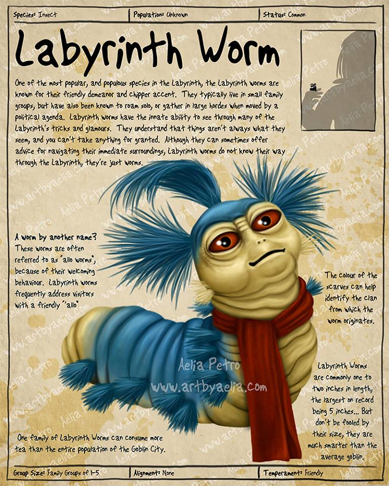 Practical Visitor's Guide to the Labyrinth by Aelia Petro - Labyrinth Worm