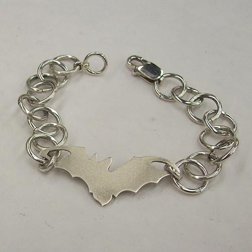Sterling Silver Bat Bracelet