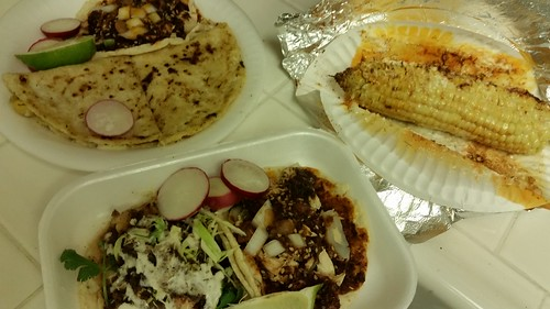 Quesadilla, Tacos & Corn