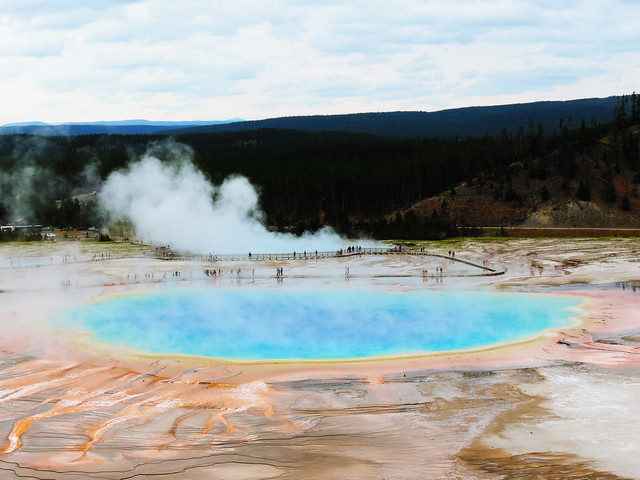 Yellowstone's Geothermal Wonders: Grand Prismatic Spring, Yellowstone National Park, USA