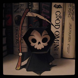 Memento mori with fondness, #Death #papercraft, for #365days project, 91/365