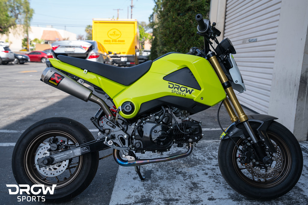 Honda Grom Build >> Drowsports Grom Build Part 5 New Paint Wheels And Brake