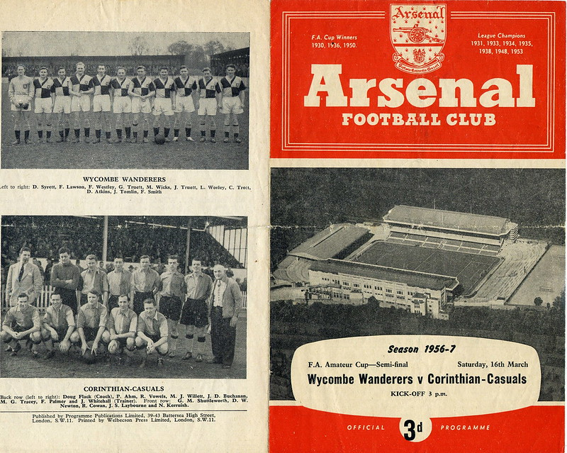 1957 Amateur Cup semi-final programme