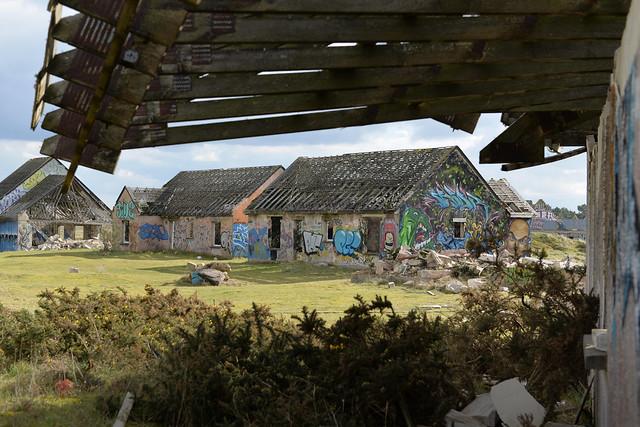 Village fantôme de Pirou-plage