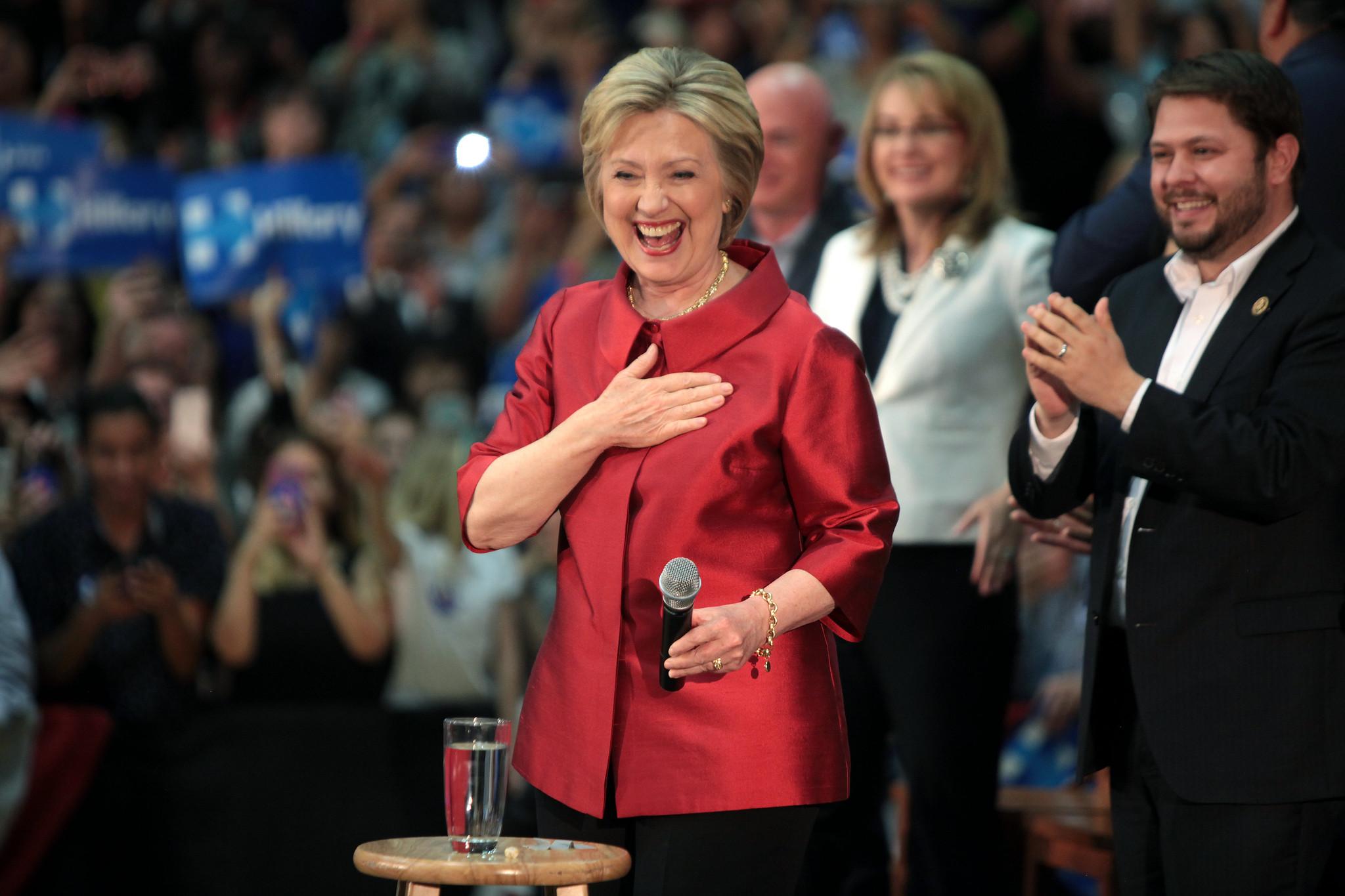 Hillary Clinton, Gabrielle Giffords & Ruben Gallego