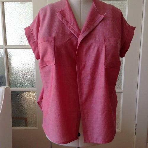 Melilot in progress #deeranddoeaddict #deeranddoe #robertkaufmanrosechambray #sewing