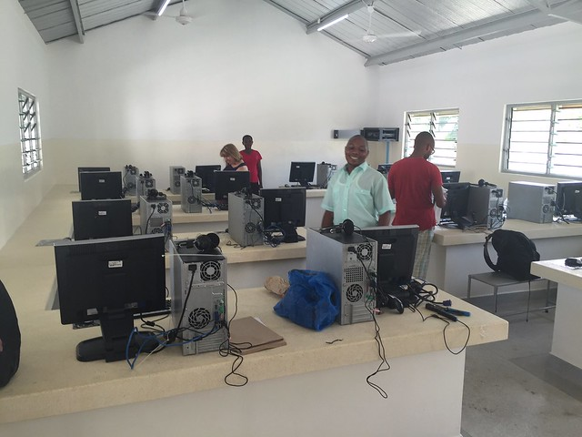 A very happy Mr Sylvester in the new IT Lab