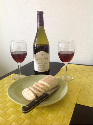 Pinot Noir and Pont L'évêque Cheese 1