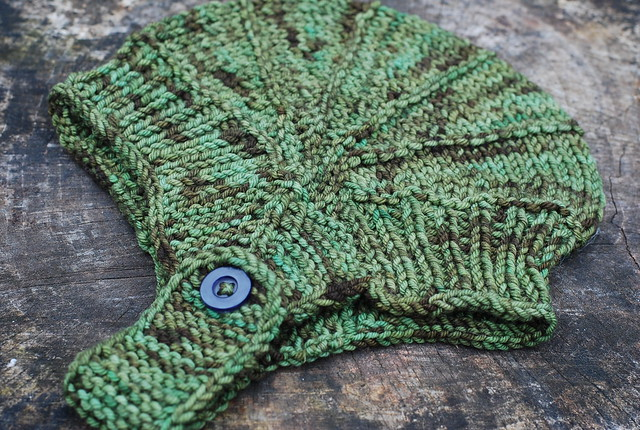 handknit Aviatrix Hat in Sheepy Time Knits Strider yarn by irieknit