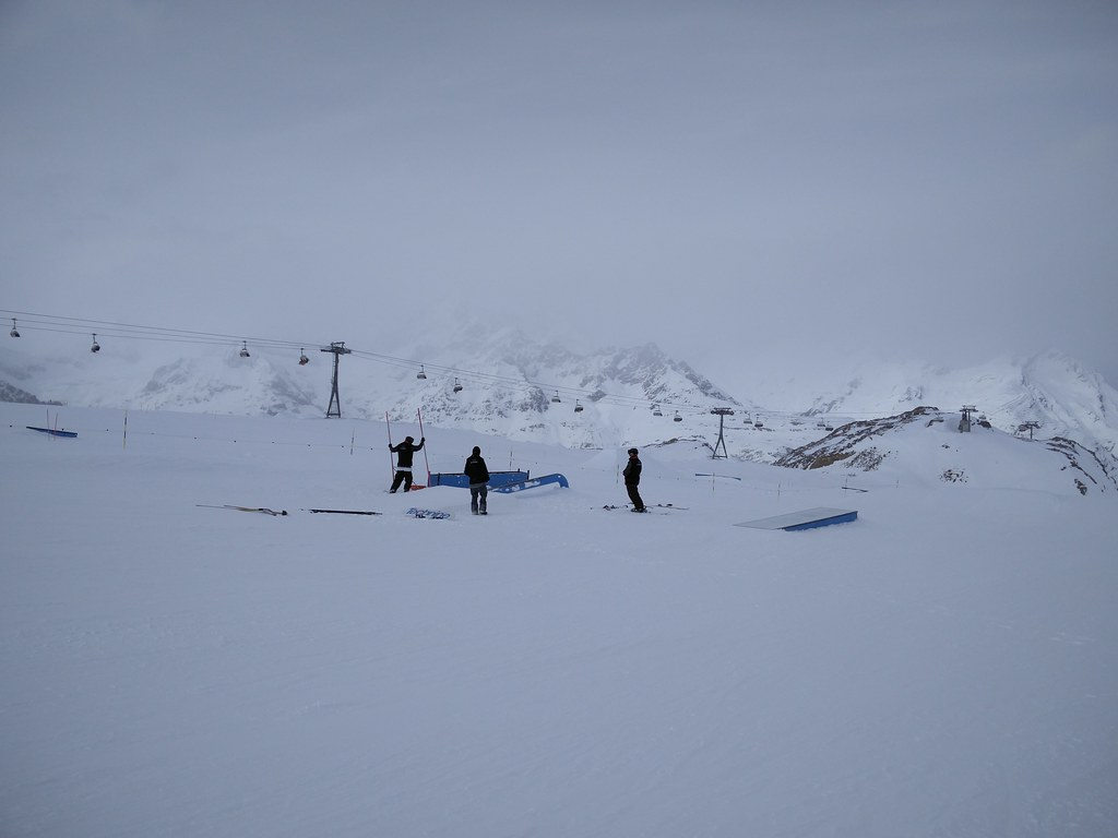 Terrain park around Plateau Rosa