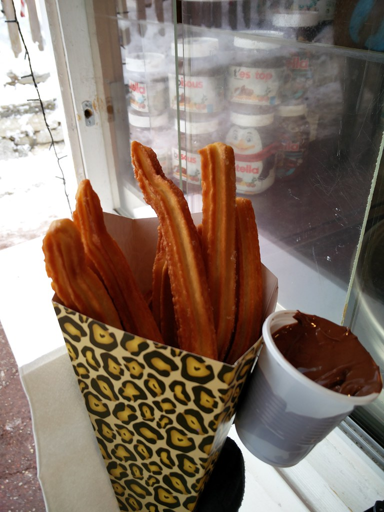 Churros with nutella