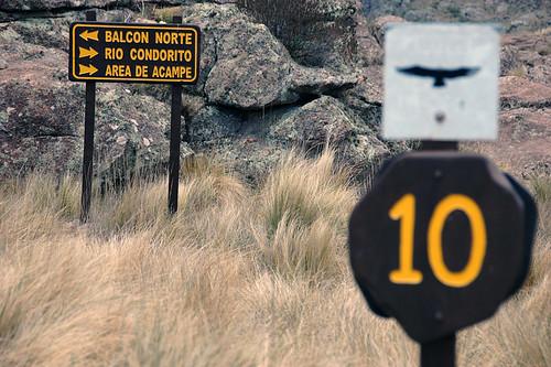 Condor Park Signage; this is kilometre 10...