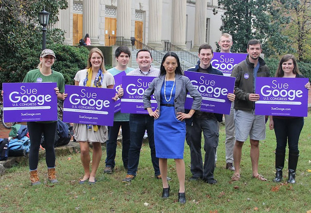 Campaign trail - Sue Googe 2016 primary
