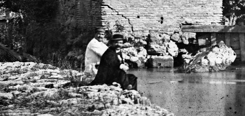 Toledo en 1864. Detalle de una fotografía de Alfonso Begue.