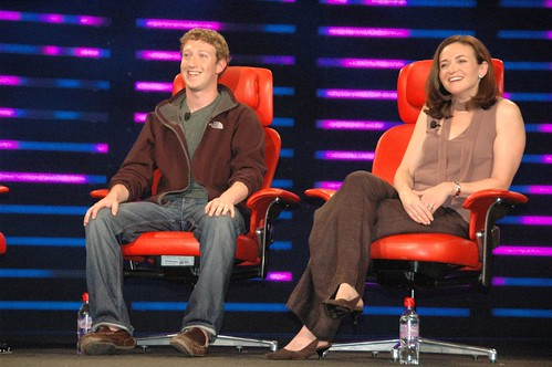Mark Zuckerberg and Sheryl Sandberg, Facebook | by dfarber