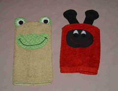wash cloth puppets | by sewmary