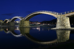 Illuminated Kintai Bridge(Kintai-kyo Bridge) [錦帯橋 / 岩国] | by d'n'c