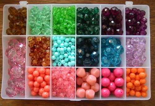 vintage beads for earrings - brights | by susanstars