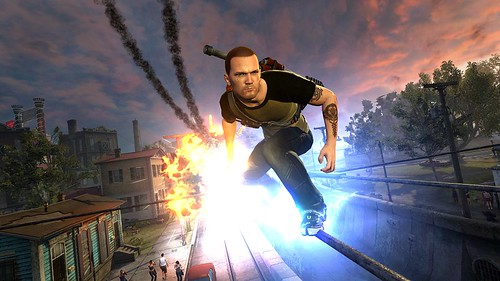 inFAMOUS 2: Cole grinds | by PlayStation.Blog