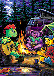 Grateful Dead Campfire With Animated Dancing Bears A Terr