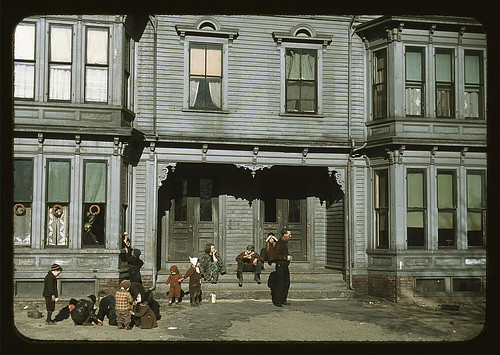 [Children with adult in the tenement district, Brockton, Massachusetts]  (LOC) | by The Library of Congress