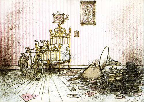 Ronald Searle's hep cat | by wombatbiker