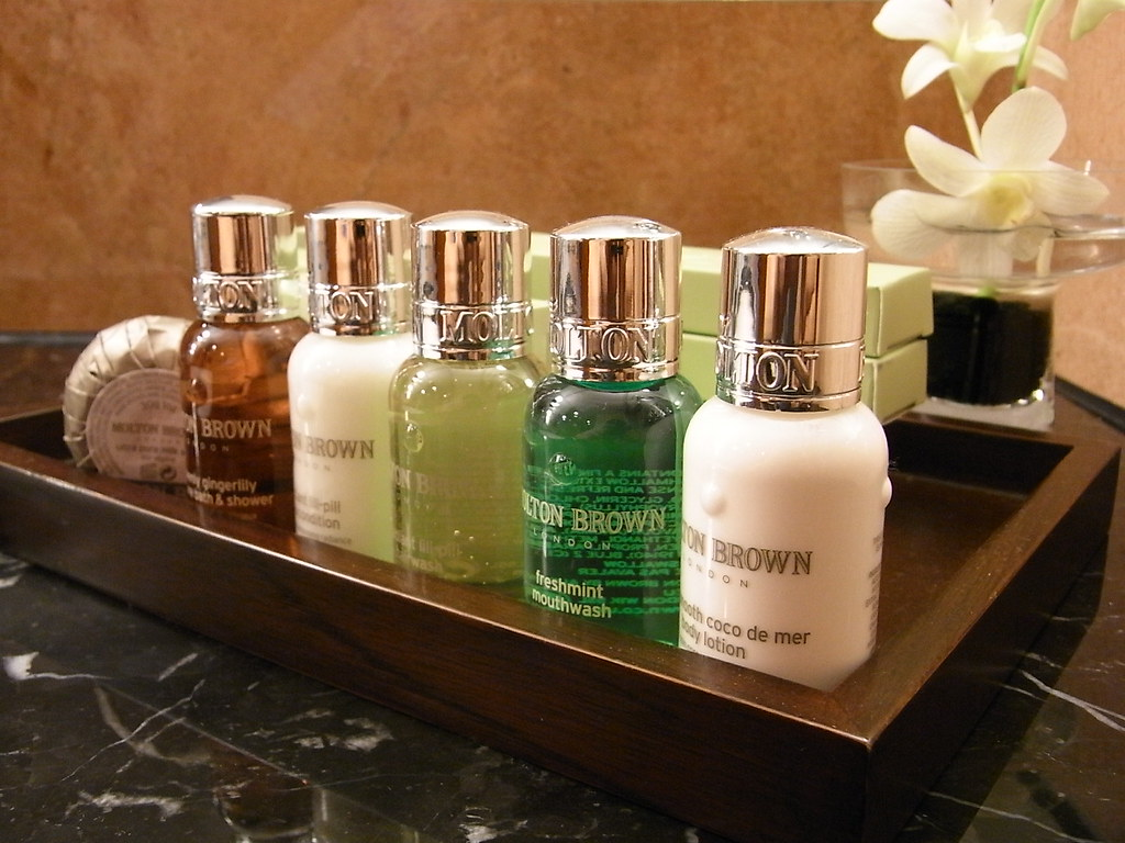 Bath amenities by Molton Brown - Westin Taipei