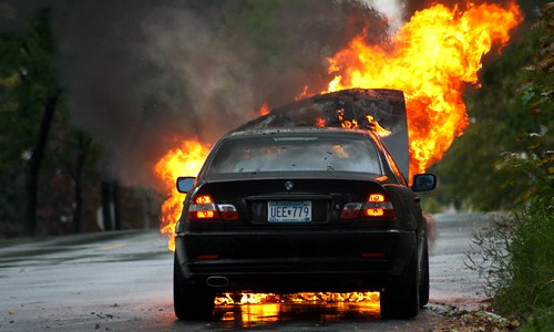 BMW Car Fire | by Tony Webster