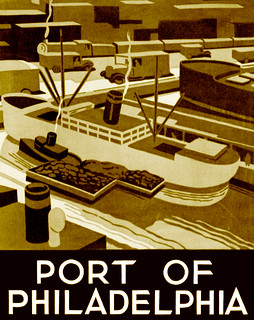 Port of Philadelphia, WPA poster, ca. 1937 | by trialsanderrors