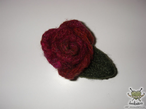 felted flower pin | by domiKNITrix