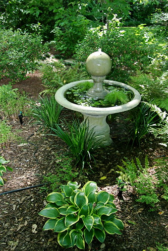 Brinker Garden - fountain on path to shed | by Pandorea...