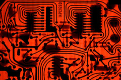 Red Circuit Board | by lungstruck