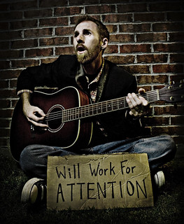 May 28th 2008 - Will Work For Attention | by Stephen Poff