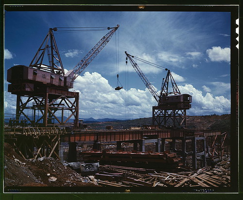 Construction work at the TVA's Douglas Dam, Tenn.  (LOC) | by The Library of Congress