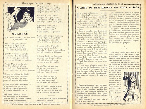 Almanaque Bertrand, 1934 - Rhymes, The art of Dancing a 19