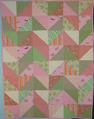 Pink & Green Zig Zag Quilt | by alissahcarlton