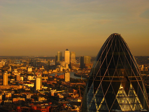 London - The Gherkin & Canary Wharf | by Harshil.Shah