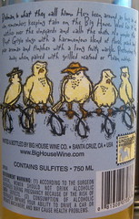 "Big House 2006 ""The Birdman"" Pinot Grigio (back) 
