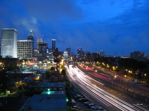 Atlanta Night Skyline Wallpaper