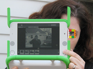 OLPC XO-1 Clip-on sports viewfinder made of LEGO bricks | by curiouslee