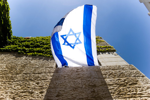 Flag On A Window Israel 60th | by Johnk85