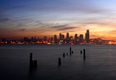 Pre-Dawn Seattle from Alki Beach | by David M Hogan