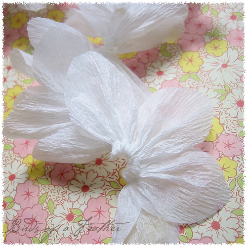white petal ~ crepe garland | by birdsofafeather