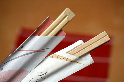 disposable chopsticks | by David Lebovitz