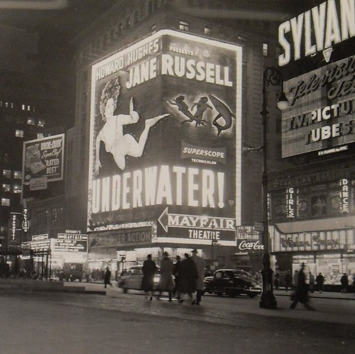 Times Square 1955 Jane Russel UNDERWATER Billboard New York City Vintage | by Christian Montone