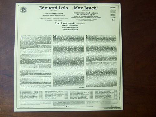 Zino Francescatti Violin Eugene Ormandy Conducts Philadelphia Orchestra Dimitri Mitropoulos Conducts