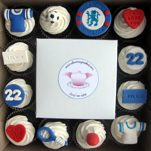 Personalized 22nd Bithday Cupcakes